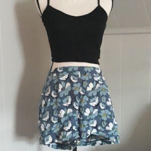 Loft floral high waisted shorts